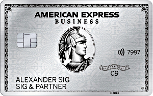 American Express Business Platinum inklusive privater Platinum Card